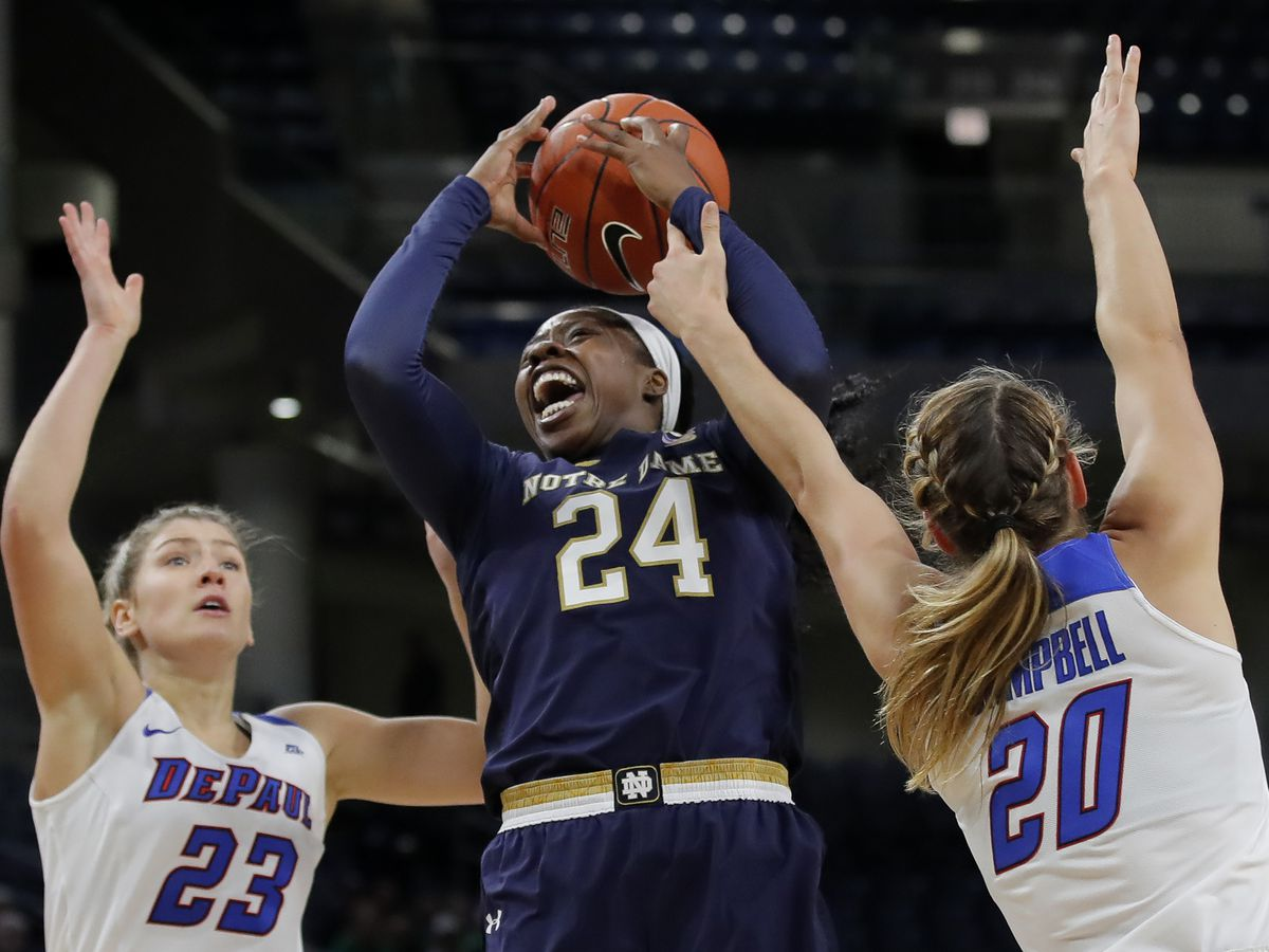 Young leads No. 1 Notre Dame women past No. 15 DePaul 101-77