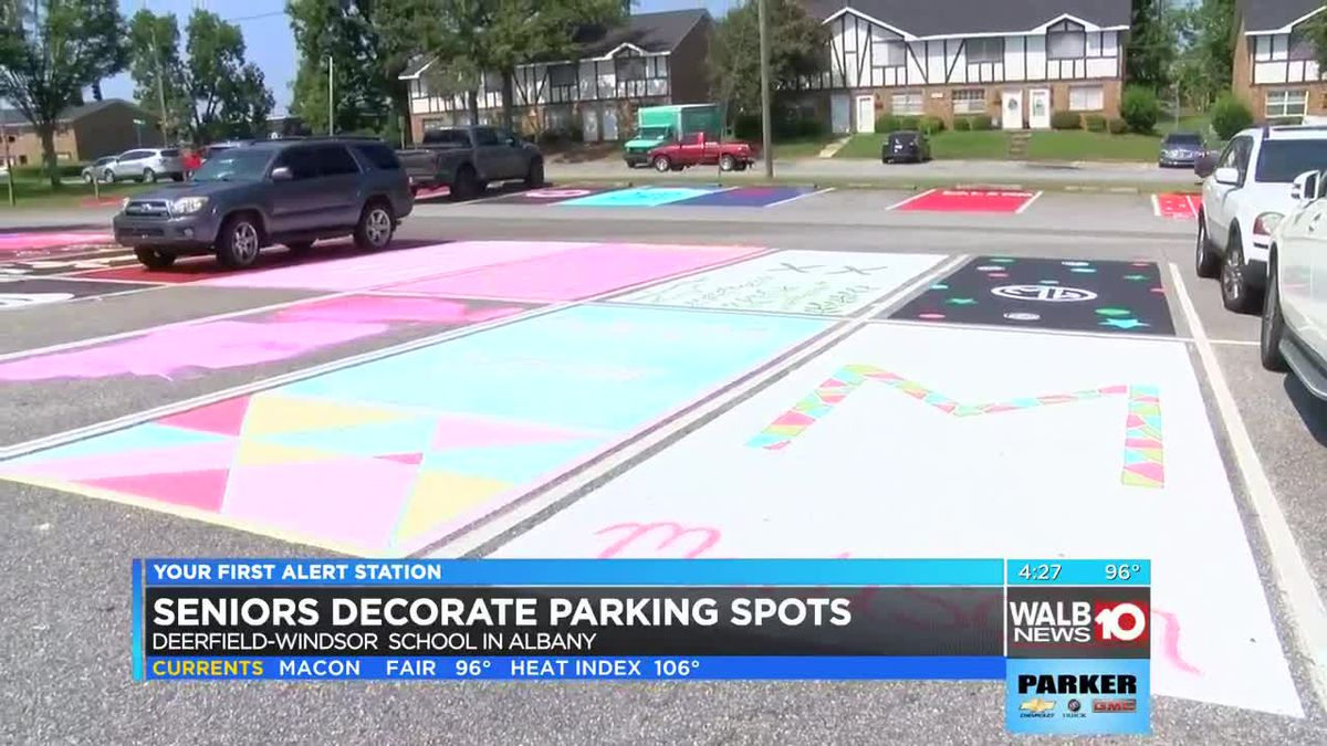 Seniors decorate parking spots at Deerfield-Windsor