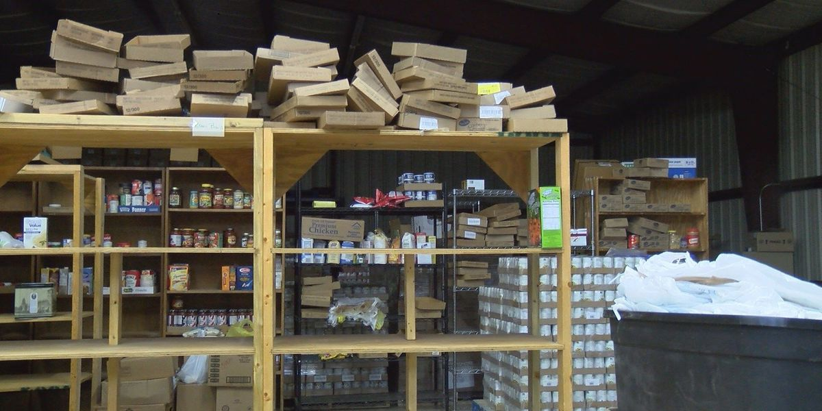 Food pantry preps for Christmas donations, distributions