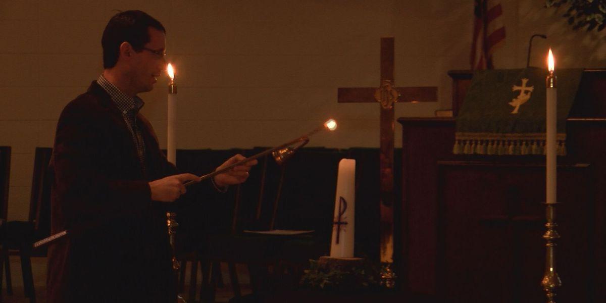 Christ United Methodist Church holds candlelight prayer vigil