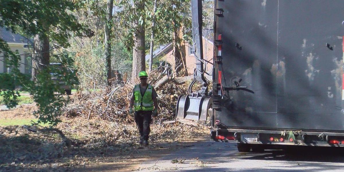 Dougherty County crews begin to clear Hurricane Michael debris