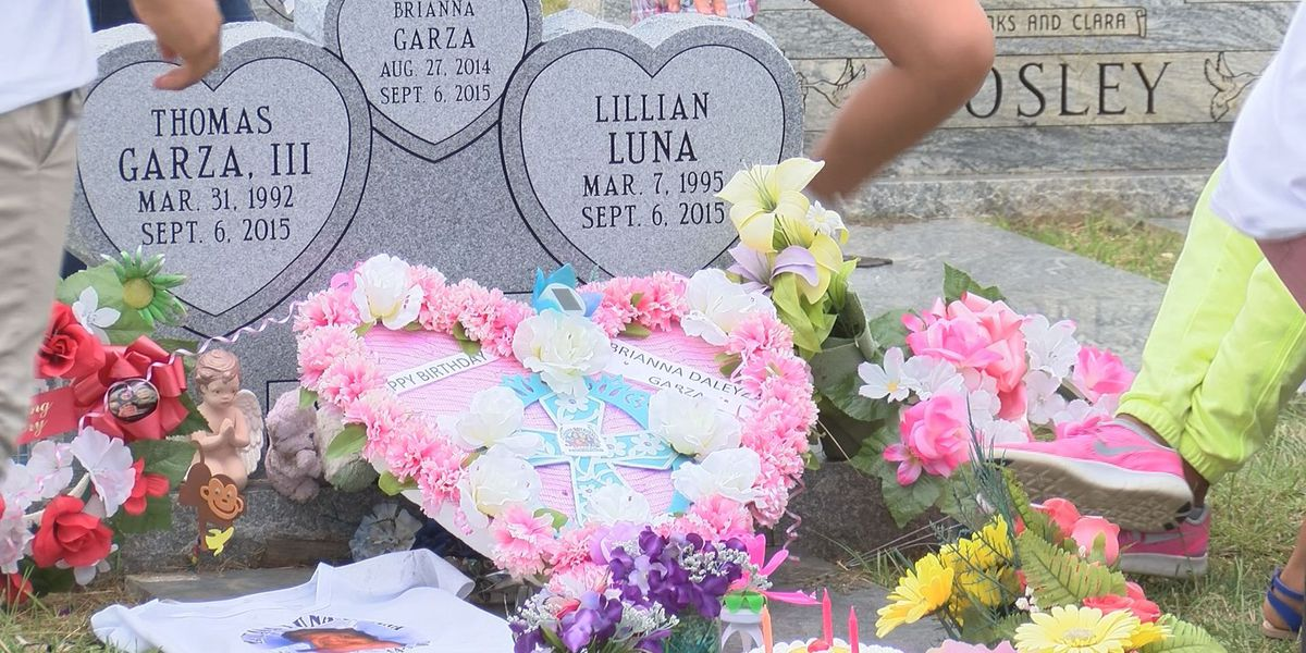 Loved ones celebrate car crash victim's third birthday