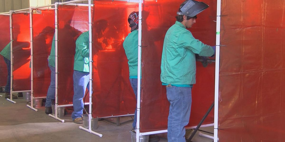 Hundreds of South GA students compete in construction skills