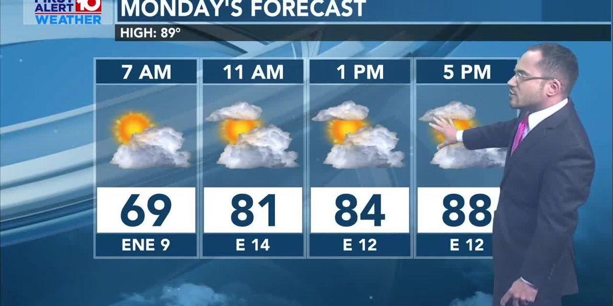 Drier air mass temporarily settles in