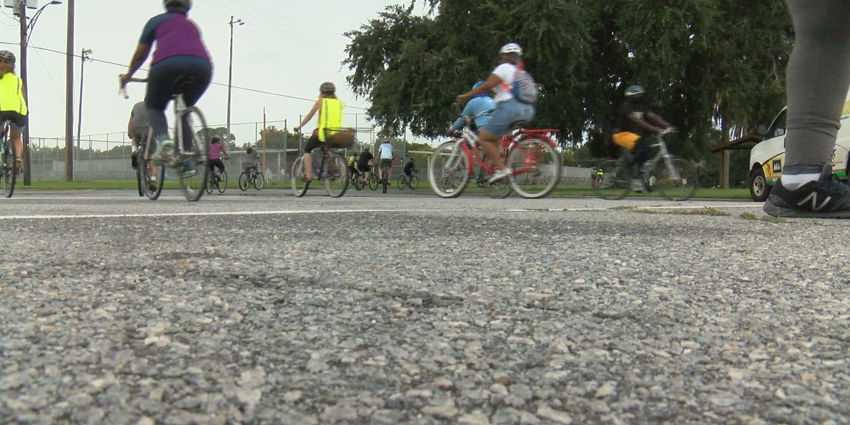 Family honors legacy of Ahmaud Arbery with community bike ride