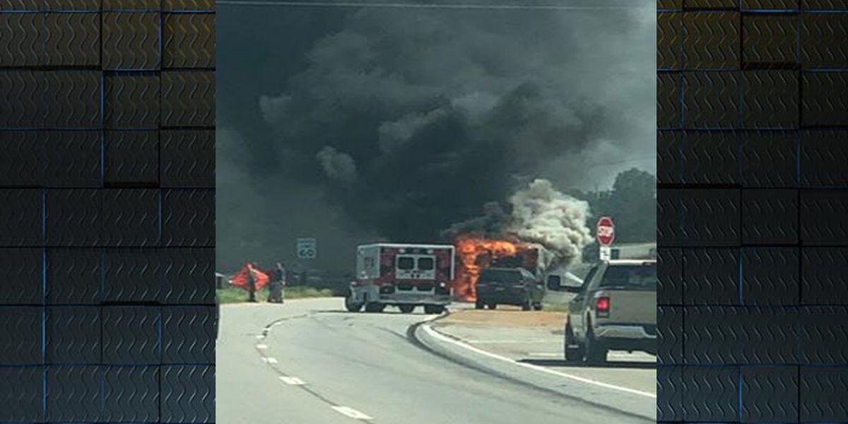 No injuries in US 19 camper fire