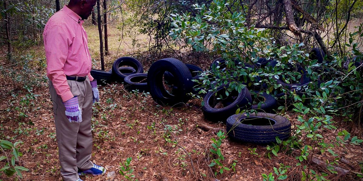 Illegal dump spotted near Albany school