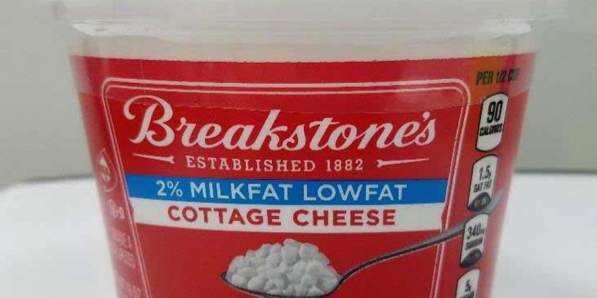 Breakstone's cottage cheese recalled due to potential presence of foreign material