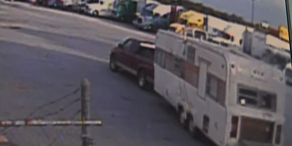 3 arrested in truck stop trailer fire