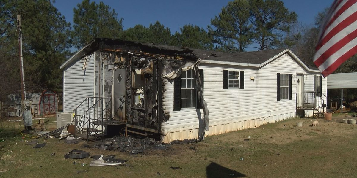 Donations help family burned out of home