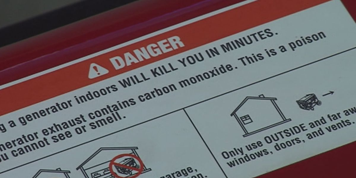 Generator use indoors can kill in minutes