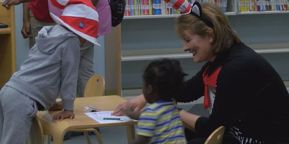 Kids celebrate National Read Across America day at Library