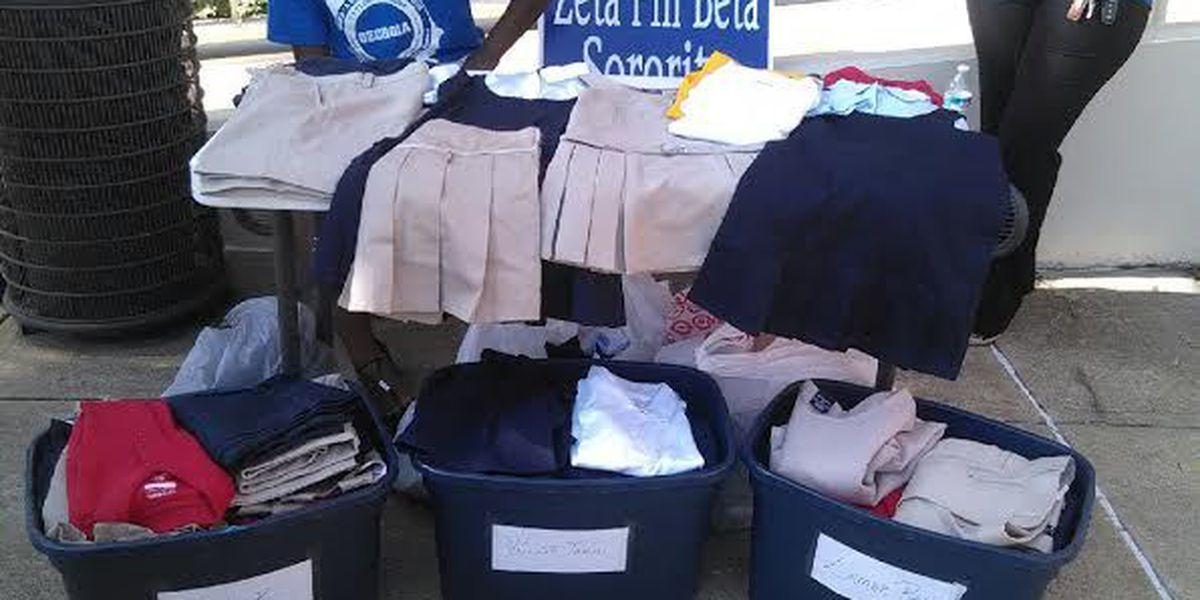 Zeta Phi Beta and Phi Beta Sigma host uniform drive