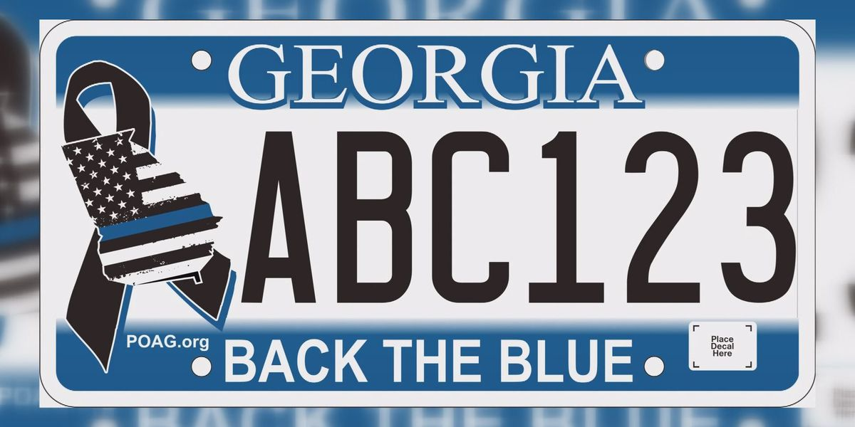 Residents can now buy 'Back the Badge' license plates
