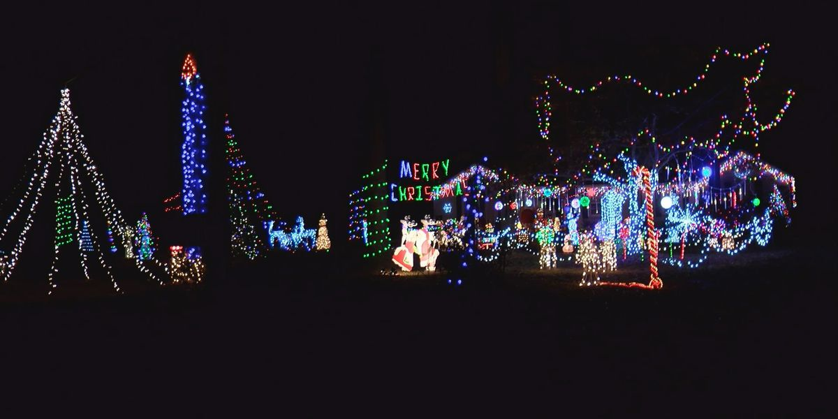 Wonderland of lights draws donations to help 2 Moultrie families