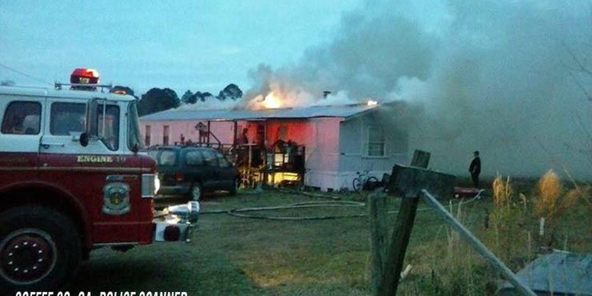 Coffee mobile home burns