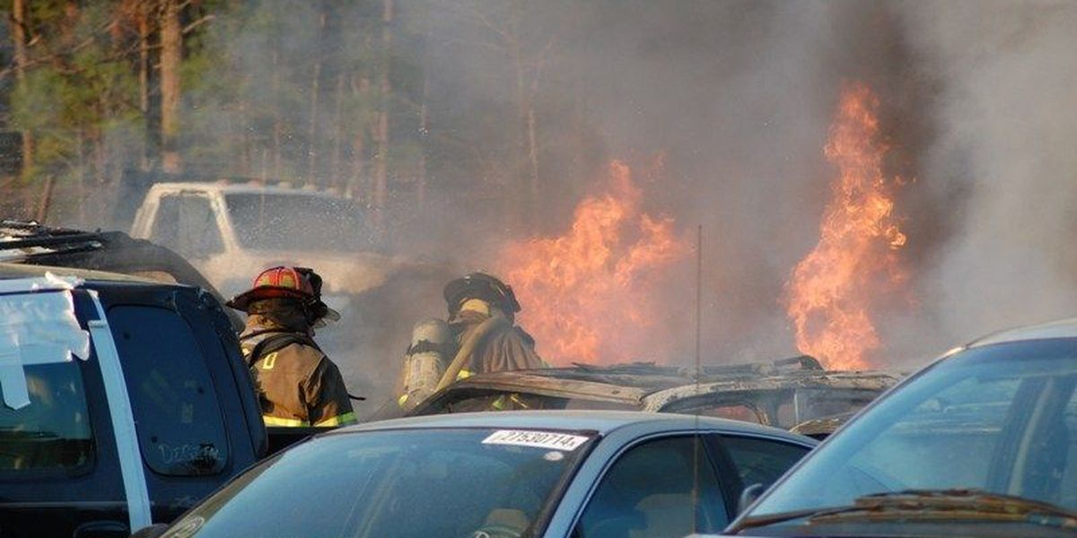 Fire breaks out at Worth Co. scrap metal business