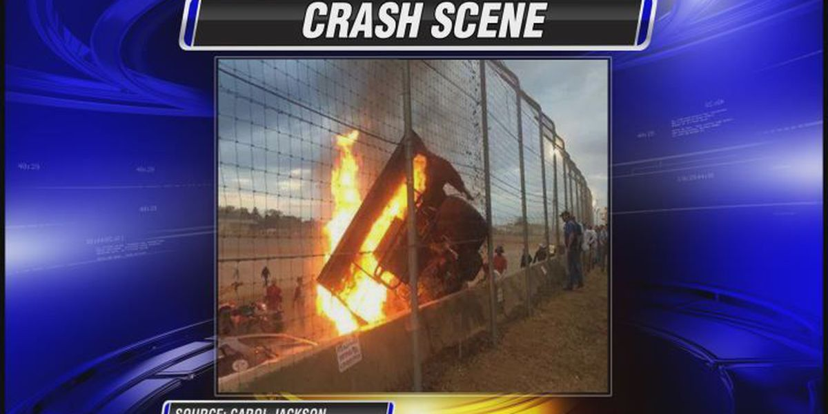 Stock car crash caught on camera