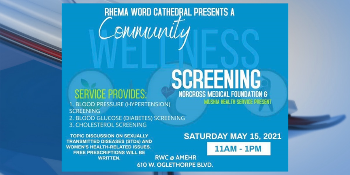 Rhema Word set to host community wellness screening Saturday