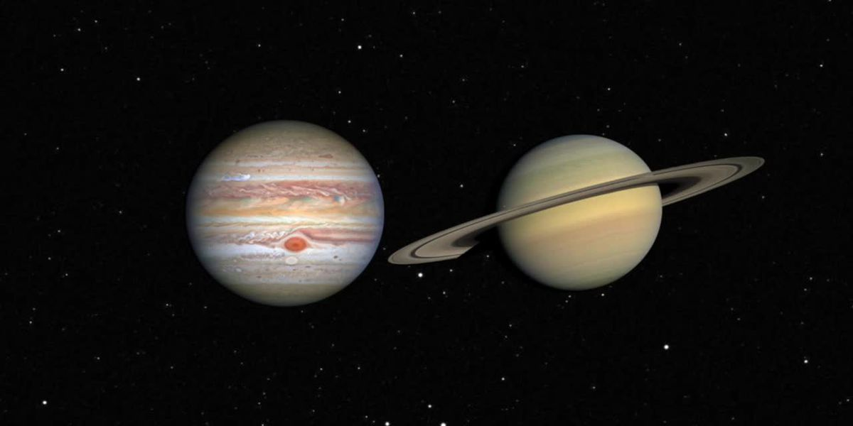 Jupiter and Saturn near for great conjunction on December 21