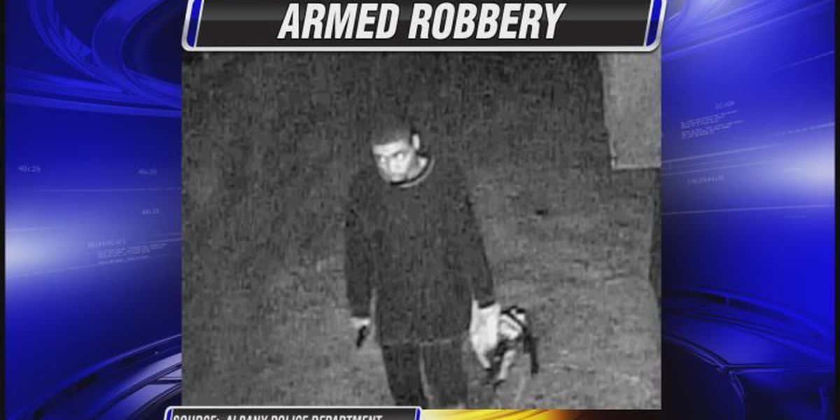 Albany armed robbery suspect caught on surveillance video