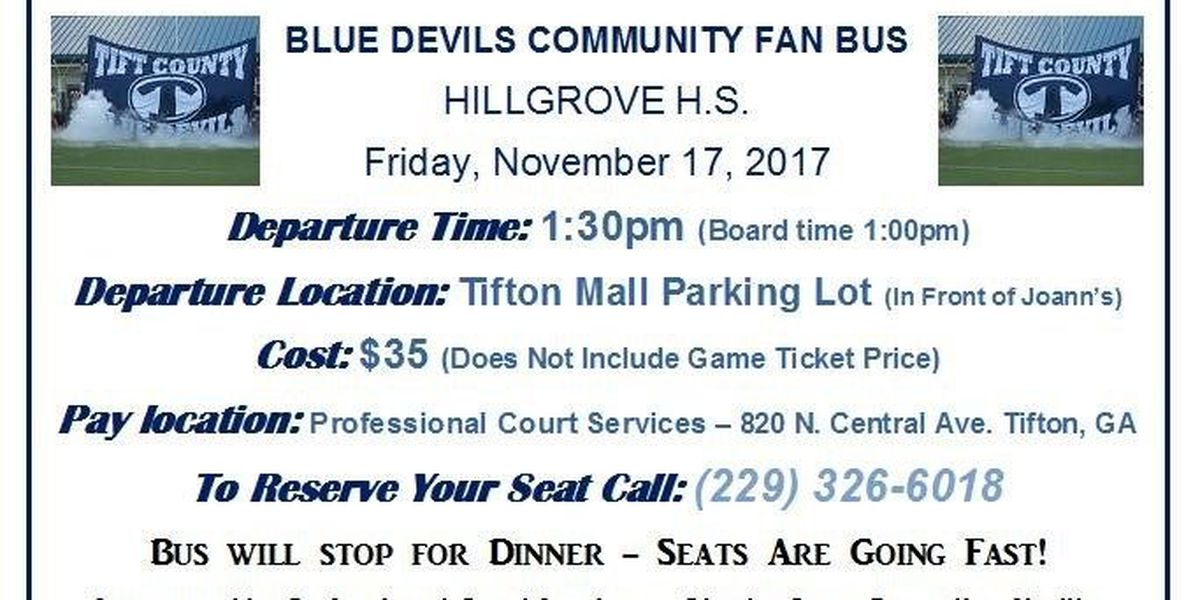 $35 bus rides for Tift County's playoff game for sale