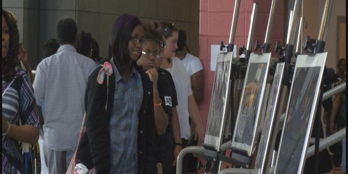 Dougherty High students display art work