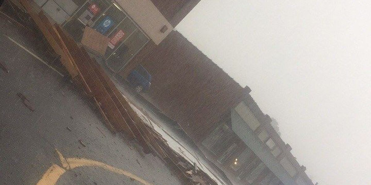 Storm causes damage in Douglas
