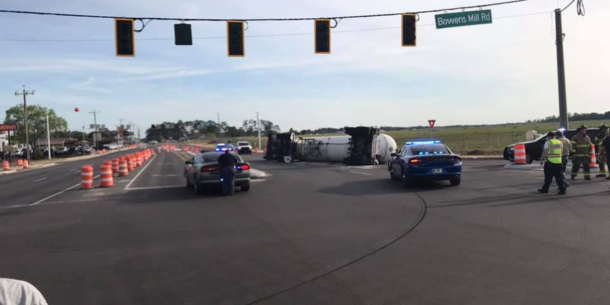 Area evacuated after tanker truck overturns in Douglas