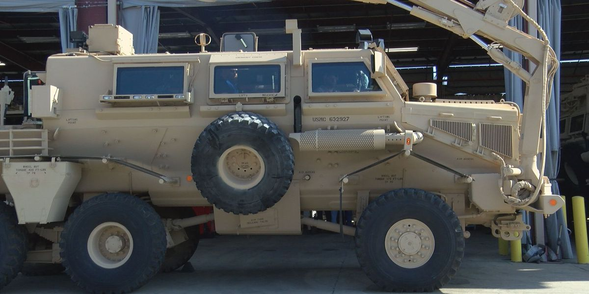 Vehicles being sent from MCLB to help overseas