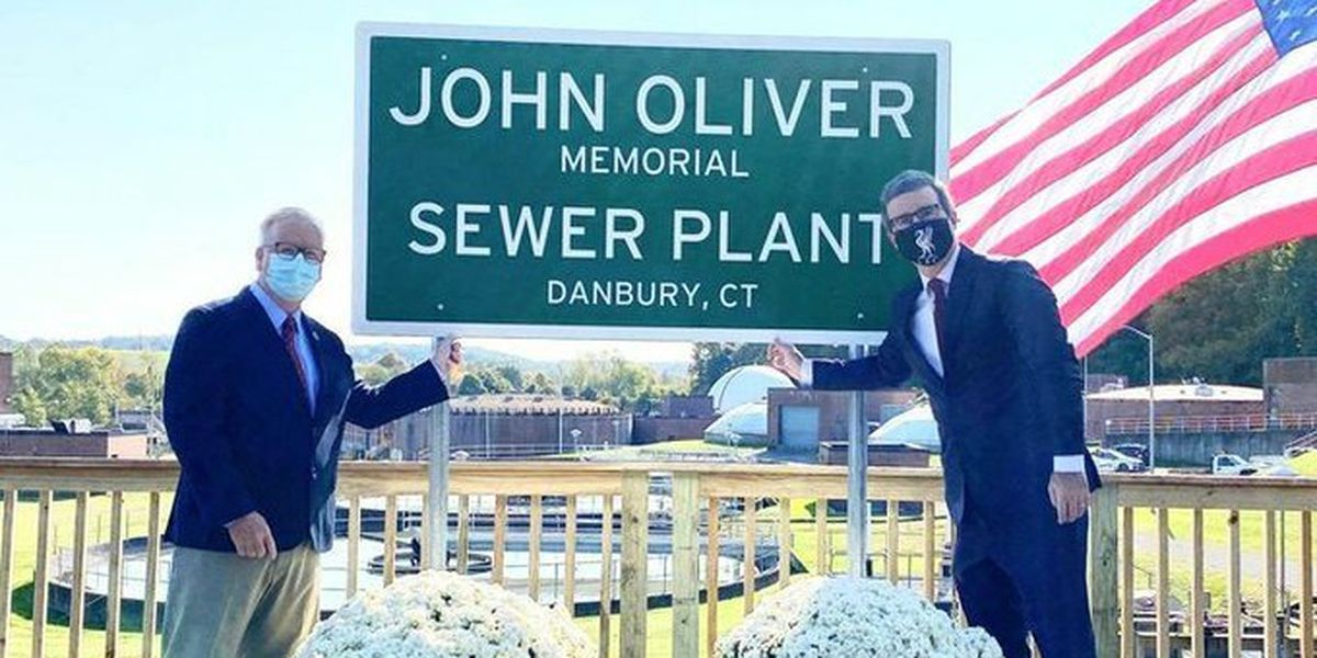 John Oliver now has a sewage plant named after him