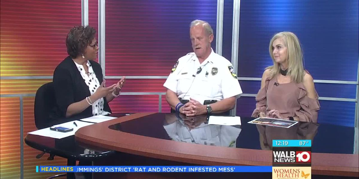 Monday - A 'Night Out Against Crime' in Sylvester