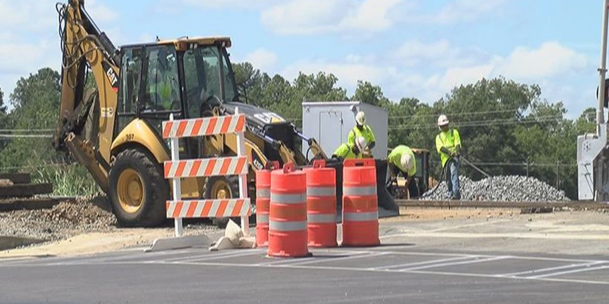 Rail Crossing work impacts in Ben Hill Co. highway