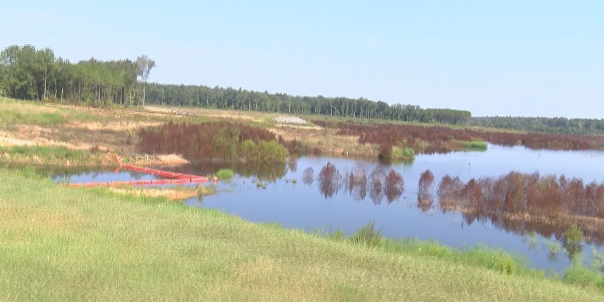 Tired Creek Lakein Grady County almost complete