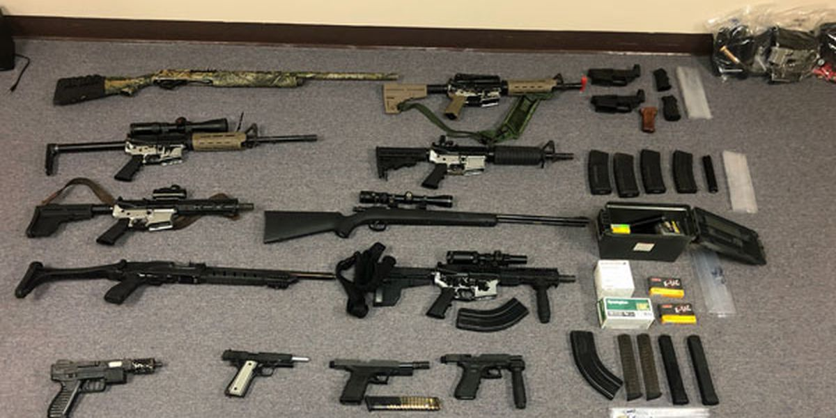 Convicted felons arrested in Albany with prohibited weapons