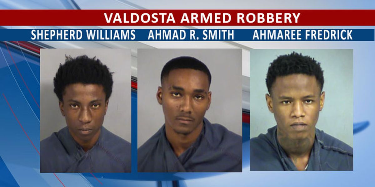 3 charged in Valdosta armed robbery incident