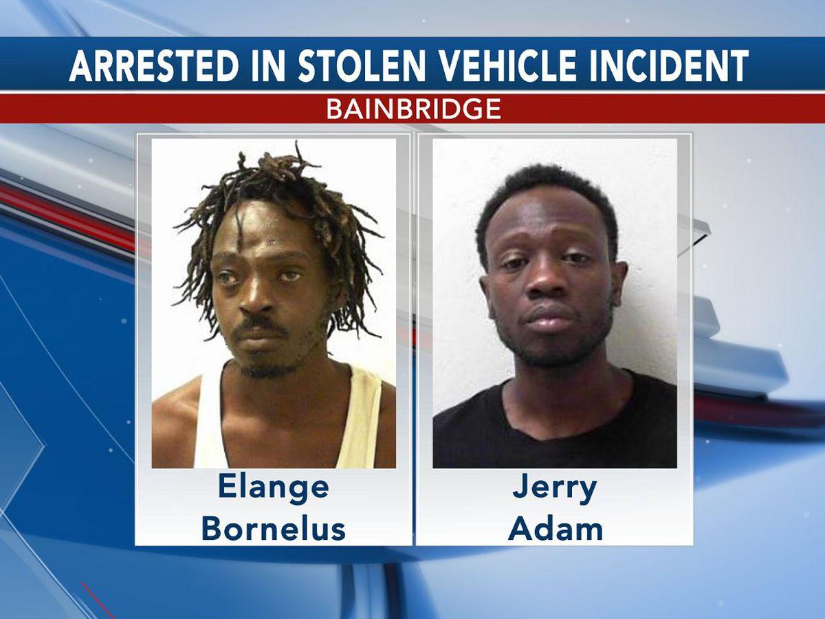 2 arrested in Bainbridge stolen vehicle incident