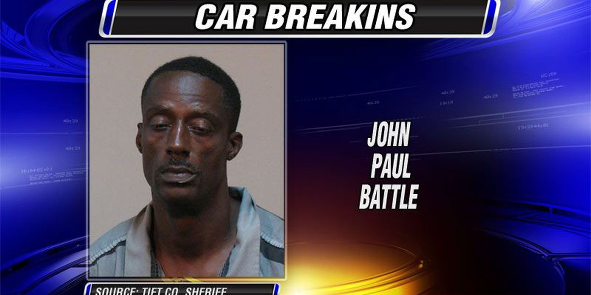 Tifton man jailed for breaking into cars