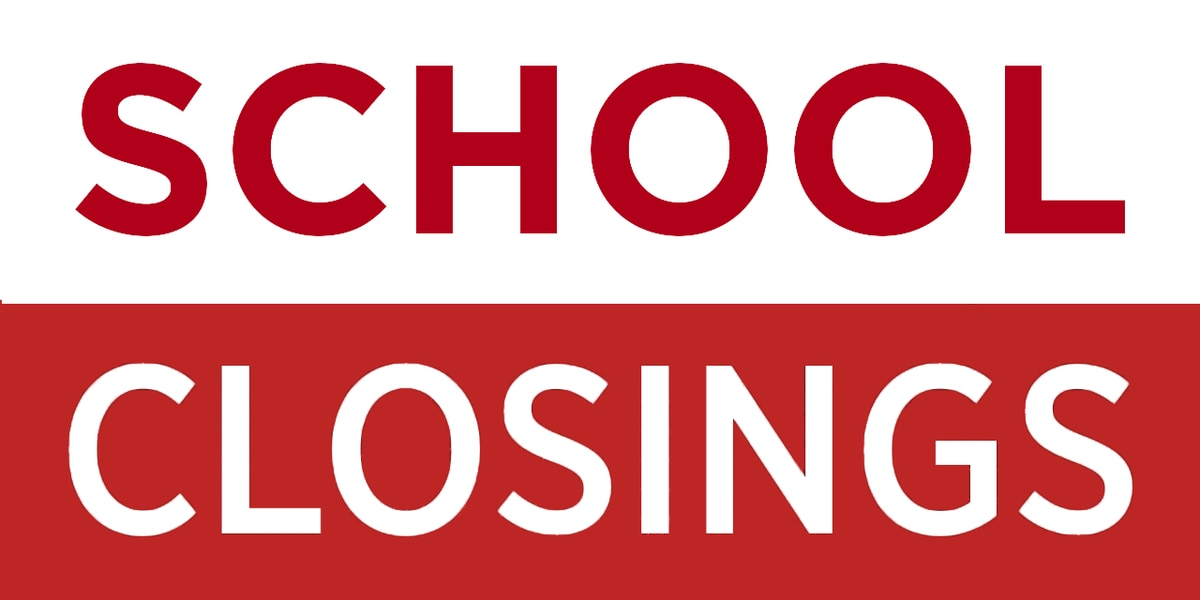 School delays, closures ahead of Thursday's severe weather