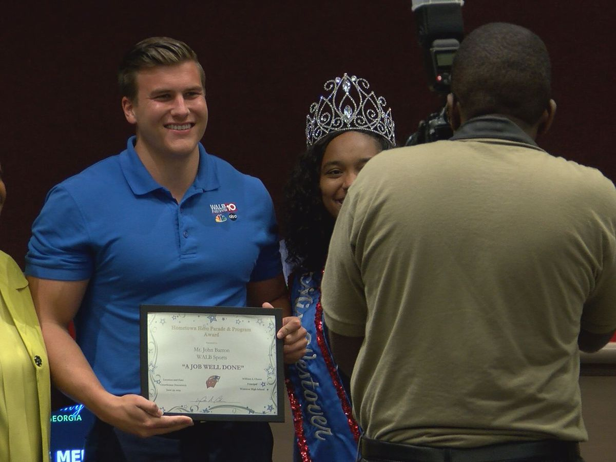 WALB receives community award for Trent Brown parade coverage