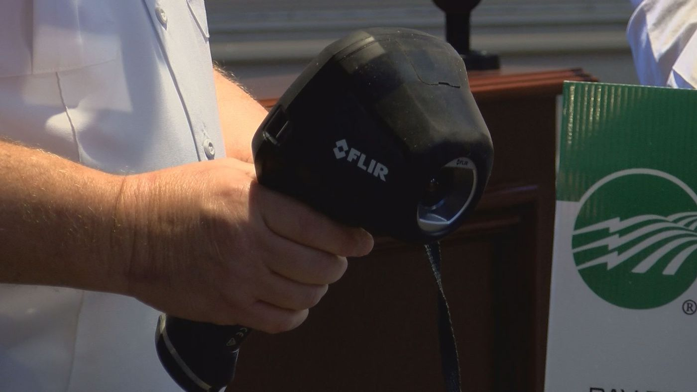 Sumter EMC donates $3K to firefighters for thermal image camera