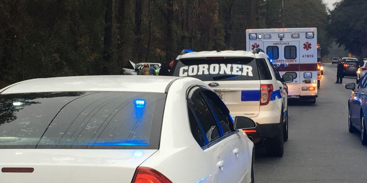 UPDATE: Coroner identifies victim in Dougherty wreck