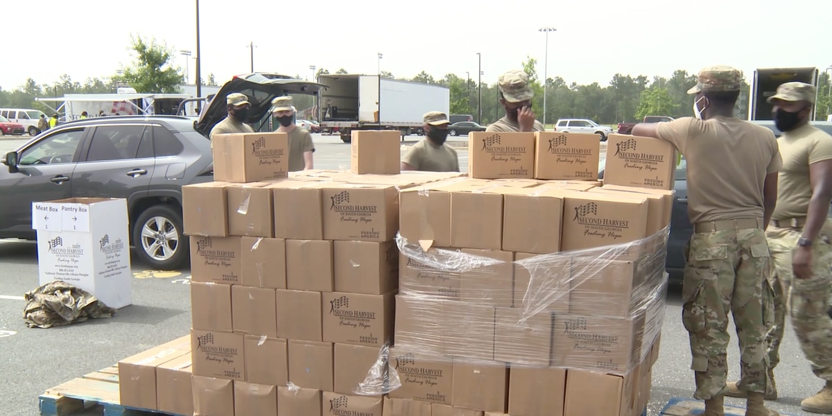 Big turnout at Second Harvest of South Georgia food drive