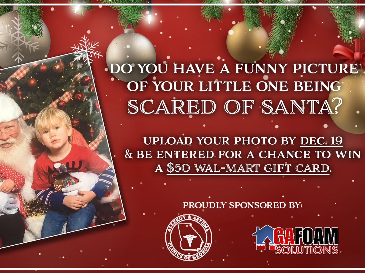 We want to see your funniest scared of Santa photos