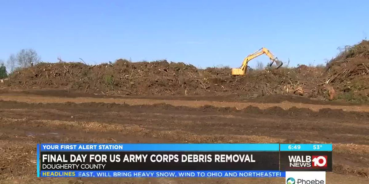 Final day for US Army Corps debris removal in Dougherty County