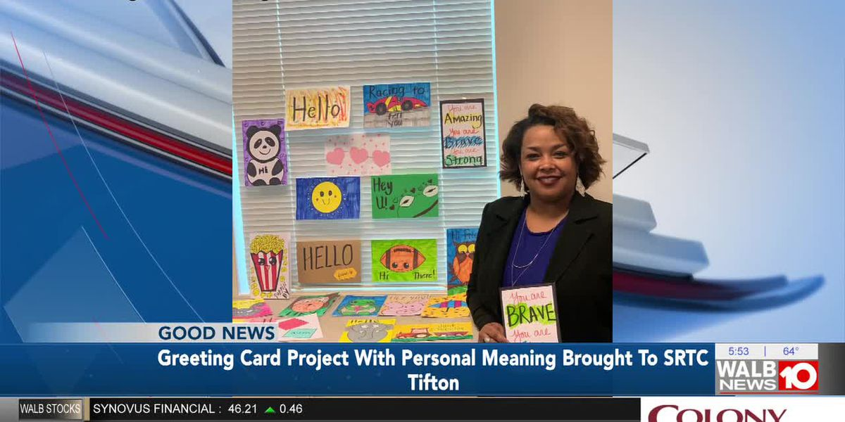 Greeting card project with personal meaning brought to SRTC Tifton