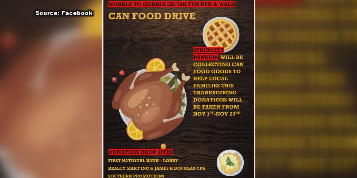 Cairo running group holds canned food drive for Thanksgiving