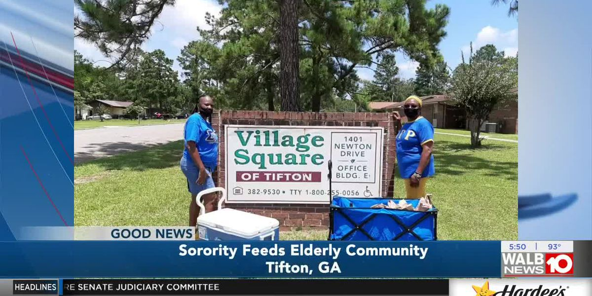 Sororities feed older population in Tifton