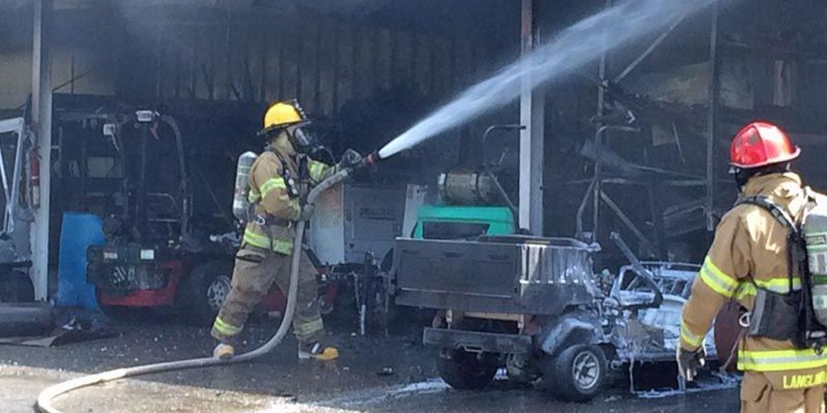 ASU maintenance shed damaged by fire