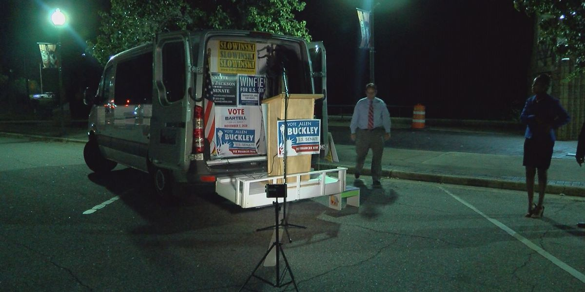 Ga. 2020 Senate candidates arrive in Albany during tour around the state